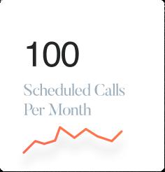 100 scheduled calls per month