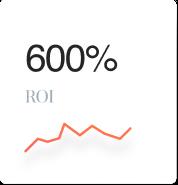 600% ROI
